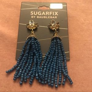 NWT Sugarfix by Baublebar blue beaded earrings